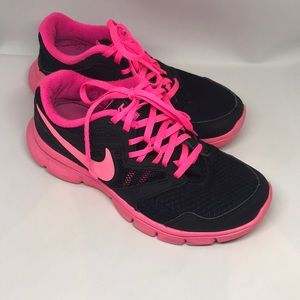 Pretty in Pink Black and Hot Pink Nike Sneakers